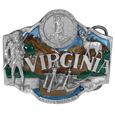 Virginia State Seal  Enameled Belt Buckle