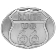Route 66 Antiqued Belt Buckle