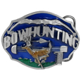 Bow hunting Enameled Belt Buckle