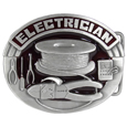 Electrician  Enameled Belt Buckle