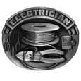 Electrician Antiqued Belt Buckle