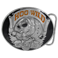 Hog Wild  Enameled Belt Buckle