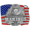 Marines Enameled Belt Buckle