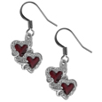 Dangle Earrings - Double Hearts