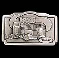 Peterbilt Class Antiqued Belt Buckle