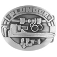Plumber 3D Antiqued Belt Buckle