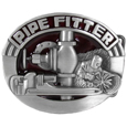 Pipe Fitter Enameled Belt Buckle