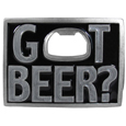 Got Beer? Bottle Opener Enameled Belt Buckle