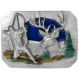 Bowhunter Enameled Belt Buckle