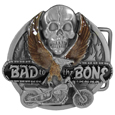 Bad to the Bone Enameled Belt Buckle