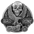 Bad to the Bone Antiqued Belt Buckle