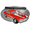 Ford Mustang Enameled Belt Buckle