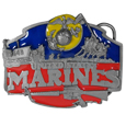 Military U.S. Marines  Enameled Belt Buckle