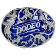 Rodeo Rope Border Enameled Belt Buckle