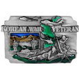 Korean War Veteran Enameled Belt Buckle