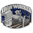 Iron Worker  Enameled Belt Buckle