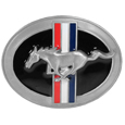 Tri Bar Ford Mustang Enameled Belt Buckle