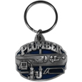 Plumber Metal Key Chain with Enameled Details