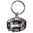 Machinist Metal Key Chain with Enameled Details