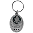 U.S. Army Military Metal Key Chain with Enameled Details