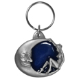 Moon & Lady Metal Key Chain with Enameled Details