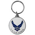 Armed Forces Air Force Metal Key Chain with Enameled Details