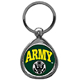 Army Antiqued Keyring