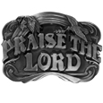 Praise the Lord Antiqued Belt Buckle