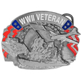 World War II Veteran Enameled Belt Buckle