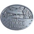 Iraqi Freedom Antiqued Belt Buckle