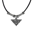 Celtic Triangle Adjustable Cord Necklace