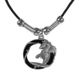 Dragon in a Circle Adjustable Cord Necklace