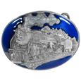 Locomotive Enameled Belt Buckle