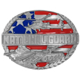 National Guard Enameled Belt Buckle