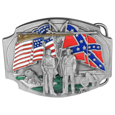 Civil War Belt Buckle Enameled Belt Buckle