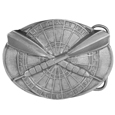 Darts Buckle Antiqued Belt Buckle
