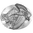 Colorado Antiqued Belt Buckle