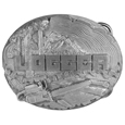Logger 3D Antiqued Belt Buckle