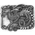 Dragon Antiqued Belt Buckle