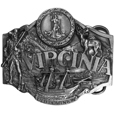 Virginia Antiqued Belt Buckle