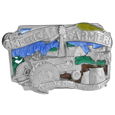 American Farmer  Enameled Belt Buckle