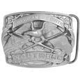 American by Birth Antiqued Belt Buckle