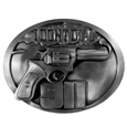 Don't Dial 911 Antiqued Belt Buckle
