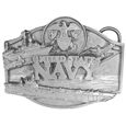 Navy Antiqued Belt Buckle