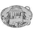American Trucker Antiqued Belt Buckle
