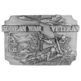 Korean War Veteran Antiqued Belt Buckle