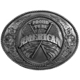 Proud to be an American Antiqued Belt Buckle