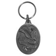 Live To Ride Motorcycle Antiqued Metal Key Chain