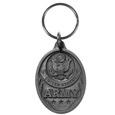 Army Antiqued Metal Key Chain