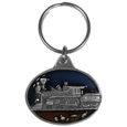 Steam Engine Metal Key Chain with Enameled Details